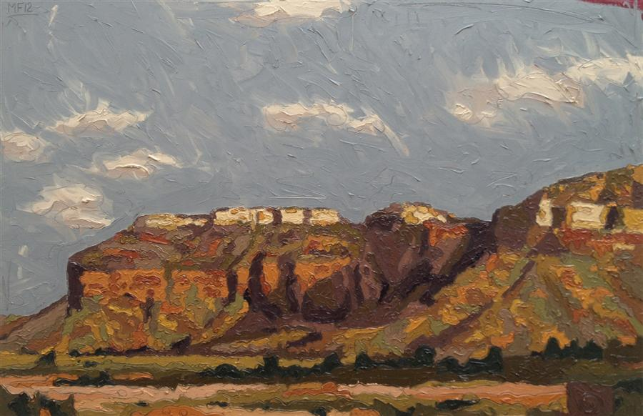 Original art for sale at UGallery.com | Red Bluff Shadows by MATTHEW FREDERICK | $3,475 |  | 28.5' h x 42.5' w | ..\art\oil-painting-Red-Bluff-Shadows