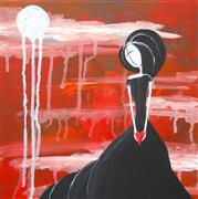 People art,Surrealism art,Representational art,Primitive art,acrylic painting,I Hold Your Heart in My Hands