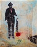 People art,Street Art art,Representational art,mixed media artwork,Give a Man a Fish and He Takes the Ocean