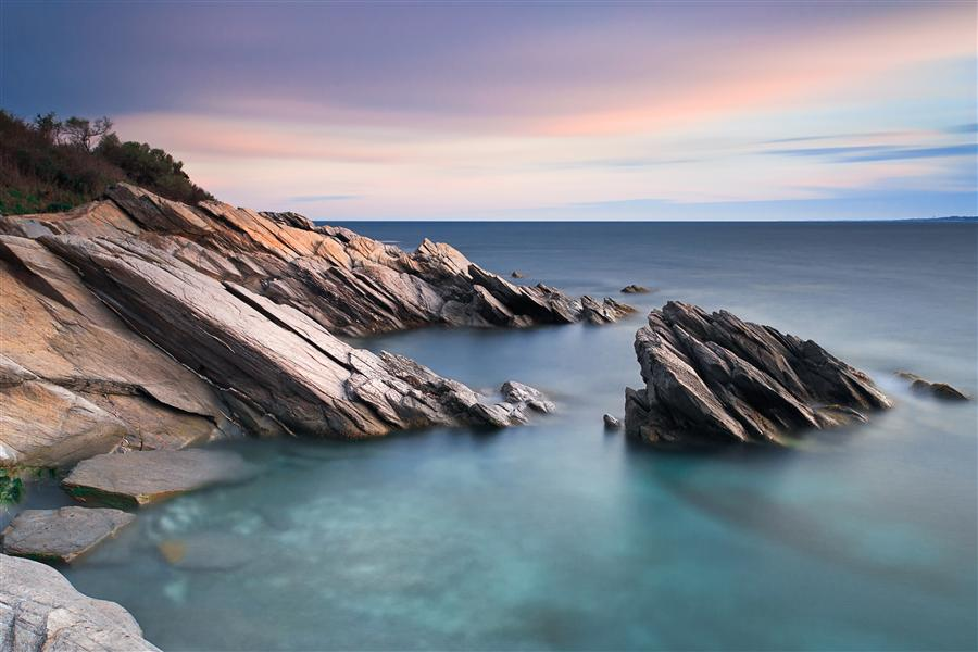 Original art for sale at UGallery.com | Windward Rocks by Katherine Gendreau | $375 | photography | 36' h x 24' w | ..\art\photography-Windward-Rocks