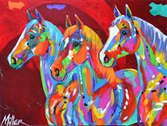 Expressionism art,Animals art,Representational art,acrylic painting,Tres Bellezas