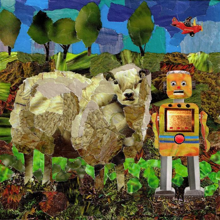Original art for sale at UGallery.com | Errol n' John by Diane Flick | $475 | mixed media artwork | 6' h x 6' w | ..\art\mixed-media-artwork-Errol-n-John