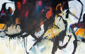 Abstract art,Expressionism art,Non-representational art,acrylic painting,Falling Upwards Again