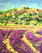 Impressionism art,Landscape art,Representational art,oil painting,Lavender Fields of Provence