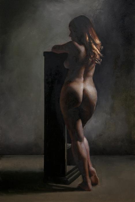Original art for sale at UGallery.com | Academic Nude by JOHN KELLY | $3,500 | Oil painting | 36' h x 24' w | ..\art\oil-painting-Academic-Nude