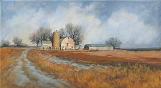 Architecture art,Landscape art,Classical art,Representational art,oil painting,Long Road Home