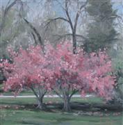 Impressionism art,Nature art,Flora art,Representational art,oil painting,Thinking for Spring