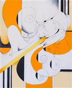 Abstract art,People art,Representational art,oil painting,Mango and Lemon