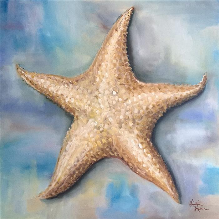 Original art for sale at UGallery.com | Starfish by KRISTINE KAINER | $1,400 |  | 24' h x 24' w | ..\art\oil-painting-Starfish