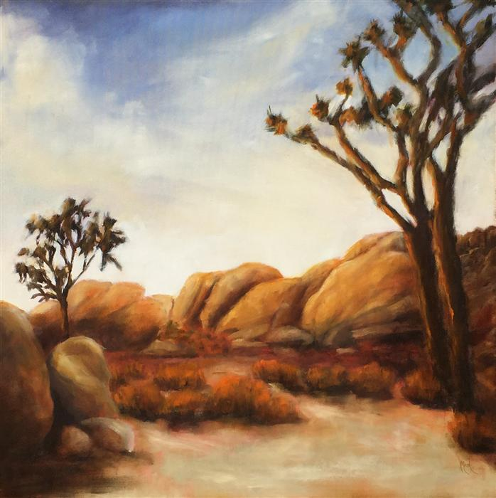 Original art for sale at UGallery.com | Joshua Tree by MANDY MAIN | $1,450 | Oil painting | 30' h x 30' w | ..\art\oil-painting-Joshua-Tree-37808