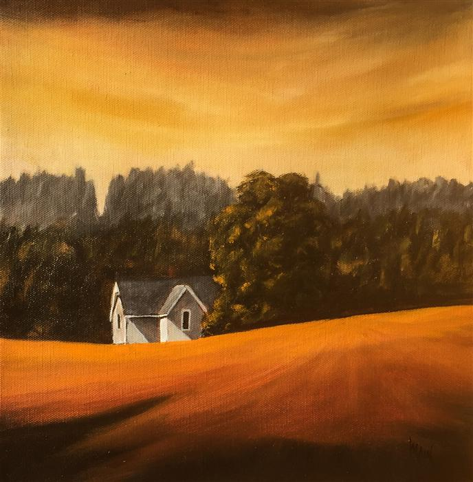 Original art for sale at UGallery.com | House on Parson Road IV by MANDY MAIN | $425 |  | 12' h x 12' w | ..\art\oil-painting-House-on-Parson-Road-IV