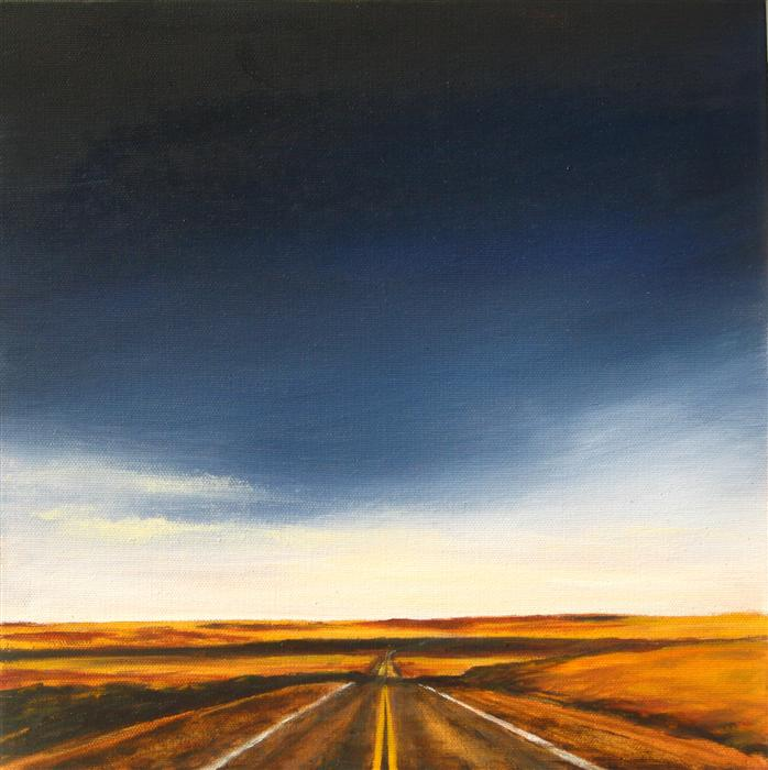 Original art for sale at UGallery.com | Vanishing Point II by MANDY MAIN | $425 |  | 12' h x 12' w | ..\art\oil-painting-Vanishing-Point-II