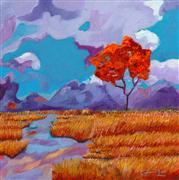 Expressionism art,Landscape art,Nature art,Representational art,oil painting,Purple Mountain Shakedown