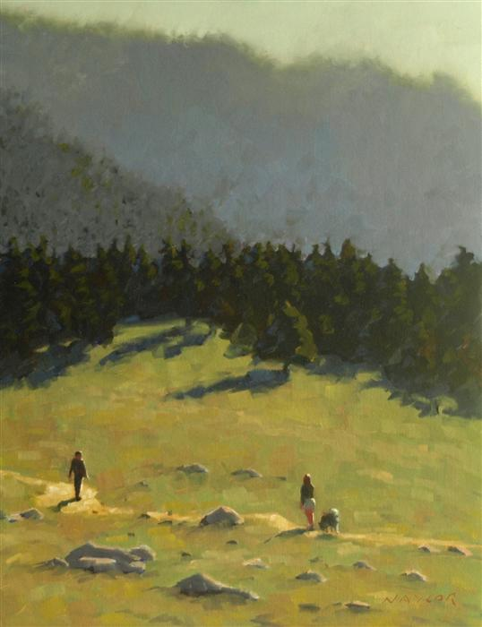 Original art for sale at UGallery.com | On the Trail by RODGERS NAYLOR | $1,000 |  | 18' h x 14' w | ..\art\oil-painting-On-the-Trail