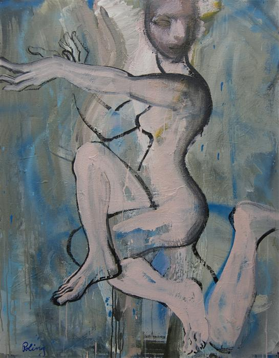 Original art for sale at UGallery.com | Dancer by STEPHEN POLING | $3,175 | Acrylic painting | 46' h x 36' w | ..\art\acrylic-painting-Dancer-38220