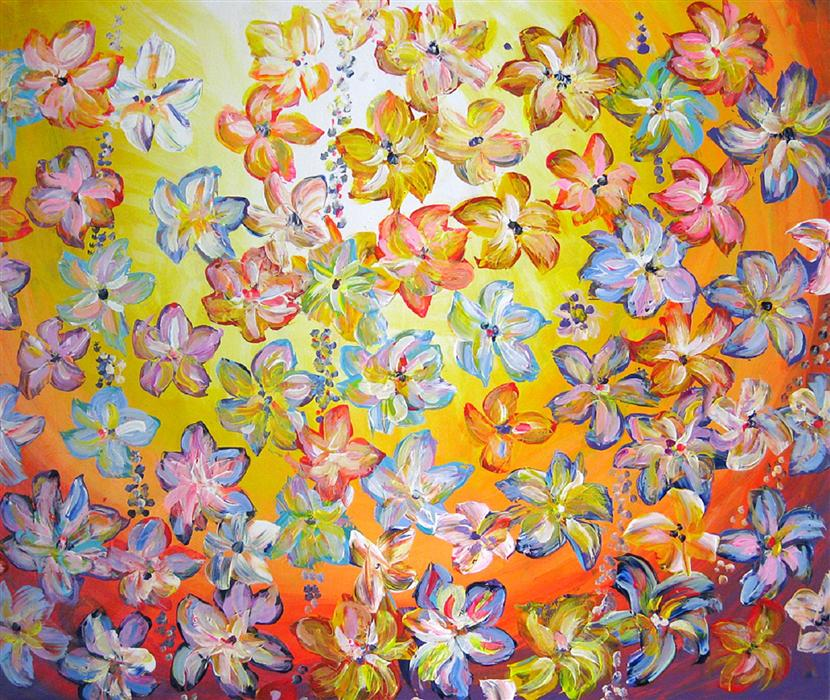 Original art for sale at UGallery.com | Delightful by NATASHA TAYLES | $925 | Acrylic painting | 27' h x 32' w | ..\art\acrylic-painting-Delightful