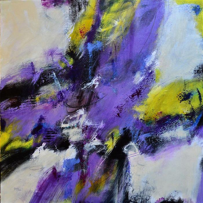 Original art for sale at UGallery.com | Amethyst and Citron by DL WATSON | $3,150 |  | 36' h x 36' w | ..\art\acrylic-painting-Amethyst-and-Citron