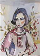 People art,Fashion art,Representational art,Vintage art,gouache painting,Fashion Inspired III