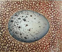 Nature art,Representational art,Vintage art,mixed media artwork,Wild Bird Egg