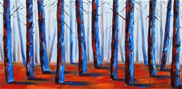 Expressionism art,Nature art,Representational art,oil painting,Redwood Forest
