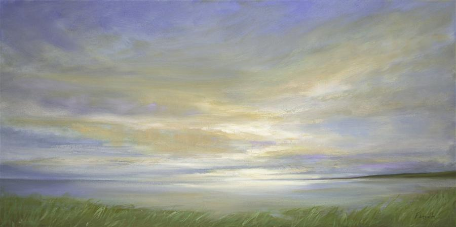 Original art for sale at UGallery.com | Pillar Point Sky by SHEILA FINCH | $2,800 |  | 18' h x 36' w | ..\art\oil-painting-Pillar-Point-Sky