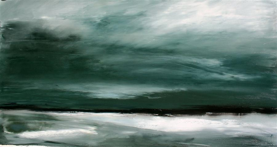 Original art for sale at UGallery.com | Surge by RONDA WAIKSNIS | $900 |  | 25' h x 46' w | ..\art\oil-painting-Surge-38534