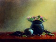 Impressionism art,Still Life art,Flora art,Representational art,oil painting,Vintage Harvest