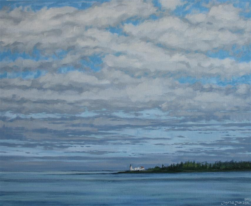 Original art for sale at UGallery.com | The Lighthouse on Campobello by JAY JENSEN | $975 |  | 16' h x 20' w | ..\art\oil-painting-The-Lighthouse-on-Campobello