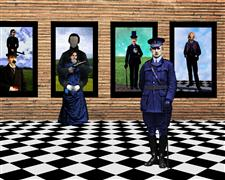 People art,Surrealism art,Representational art,photography,Guard Duty