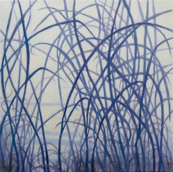 Original art for sale at UGallery.com | Winter Field II by NANCI ERSKINE | $775 | Oil painting | 18' h x 18' w | https://www.ugallery.com/ProductDetail.aspx?ProductID=39900