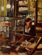 Impressionism art,People art,Classical art,Cuisine art,Representational art,oil painting,At the Bakery