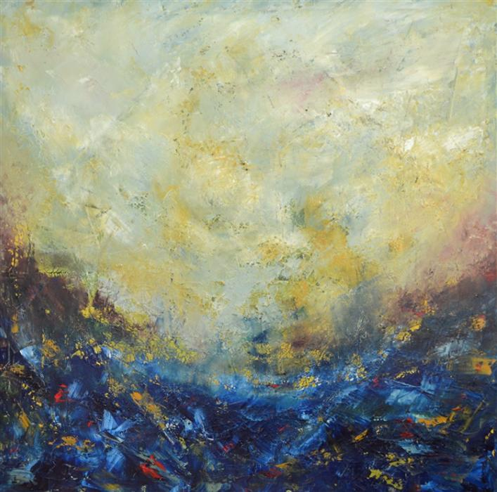 Original art for sale at UGallery.com | The Perfect Storm by CHELSEA TIKOTSKY | $1,850 |  | 36' h x 36' w | ..\art\oil-painting-The-Perfect-Storm