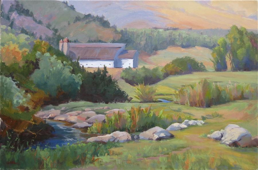 Original art for sale at UGallery.com | Park City Summer by JAMIE ROTH | $3,100 | Oil painting | 24' h x 36' w | ..\art\oil-painting-Park-City-Summer