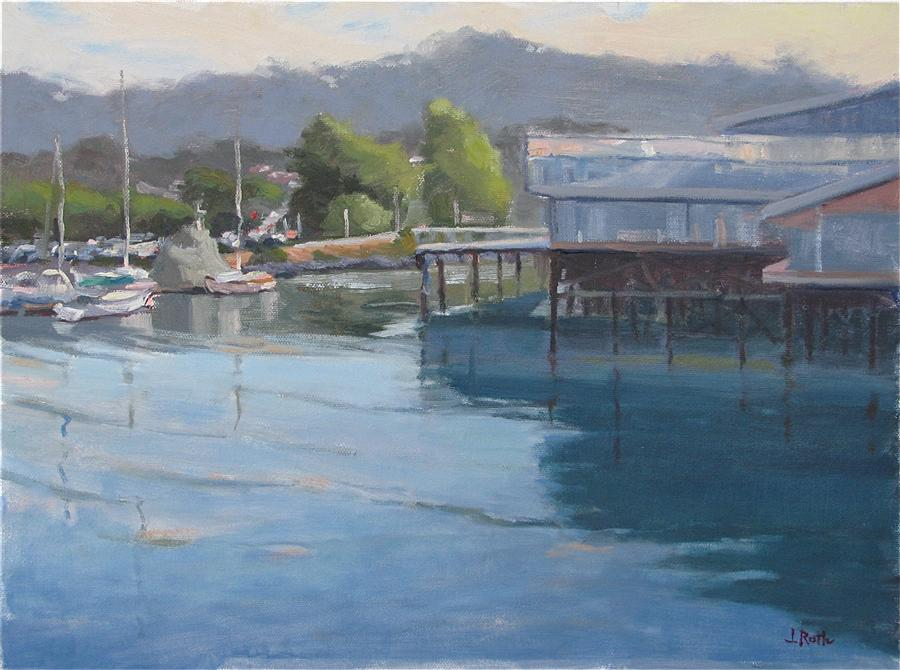 Original art for sale at UGallery.com | Monterey Morning by JAMIE ROTH | $850 | Oil painting | 12' h x 16' w | ..\art\oil-painting-Monterey-Morning