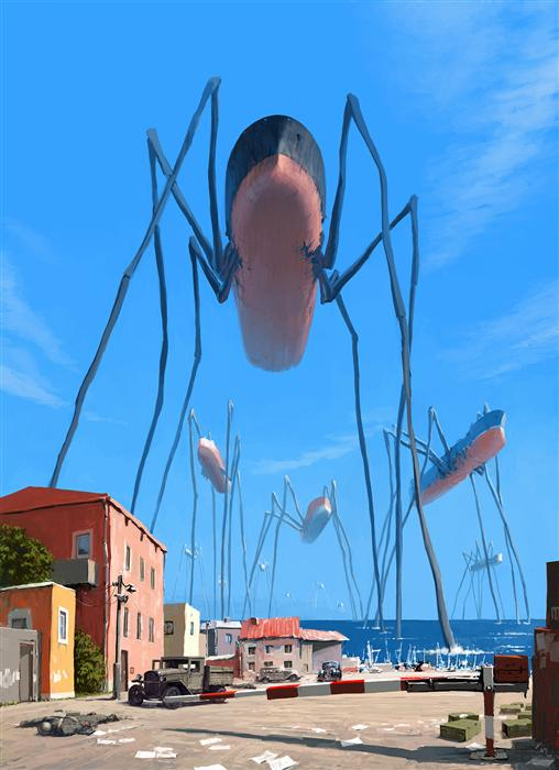 Original art for sale at UGallery.com | Tsunami by ALEX ANDREEV | $1,550 |  | 37' h x 28' w | ..\art\digital-printmaking-Tsunami
