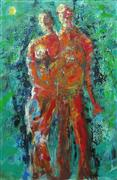 Expressionism art,People art,Representational art,acrylic painting,As One