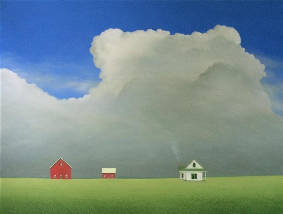 Original art for sale at UGallery.com | Under the Growing Clouds by SHARON  FRANCE | $2,500 |  | 30' h x 40' w | ..\art\acrylic-painting-Under-the-Growing-Clouds