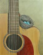 Animals art,Still Life art,Representational art,oil painting,Study for The Nest That Music Built