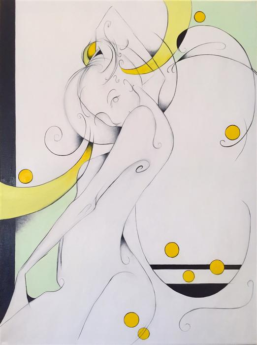 Original art for sale at UGallery.com | Esmeralda by SUMNER CRENSHAW | $525 |  | 24' h x 18' w | ..\art\oil-painting-Esmeralda