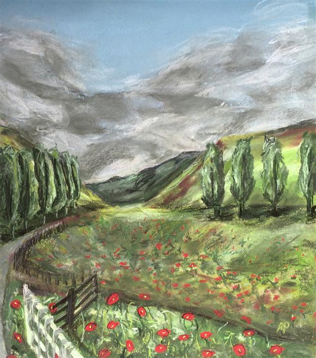 Original art for sale at UGallery.com | Tuscany by ANASTASIA PIMENTEL | $350 | Pastel artwork | 13' h x 11' w | ..\art\pastel-artwork-Tuscany