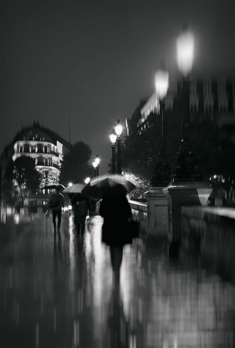 Original art for sale at UGallery.com | Paris in the Rain by Carina Okula | $275 | photography | 36' h x 24' w | ..\art\photography-Paris-in-the-Rain
