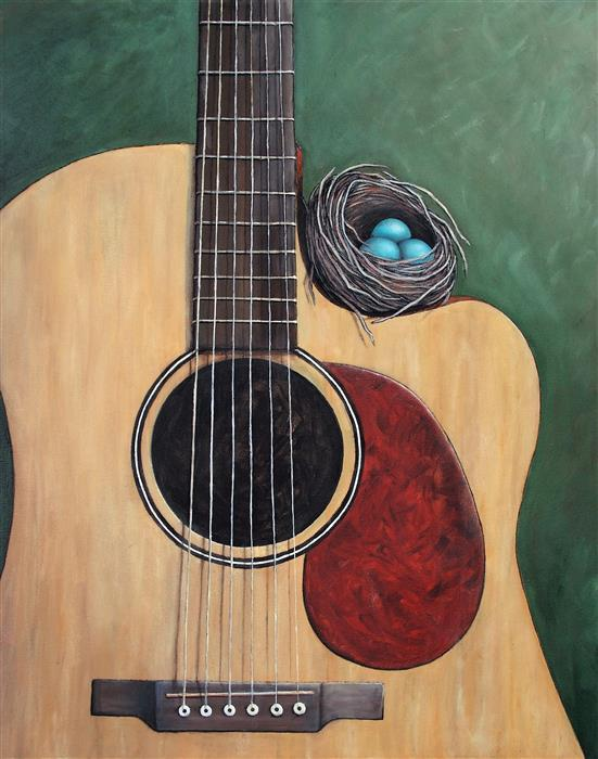 Original art for sale at UGallery.com | The Nest That Music Built by JENNIFER ROSS | $1,775 |  | 30' h x 24' w | ..\art\oil-painting-The-Nest-that-Music-Built