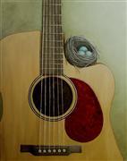 Still Life art,Representational art,Vintage art,oil painting,The Nest that Music Built