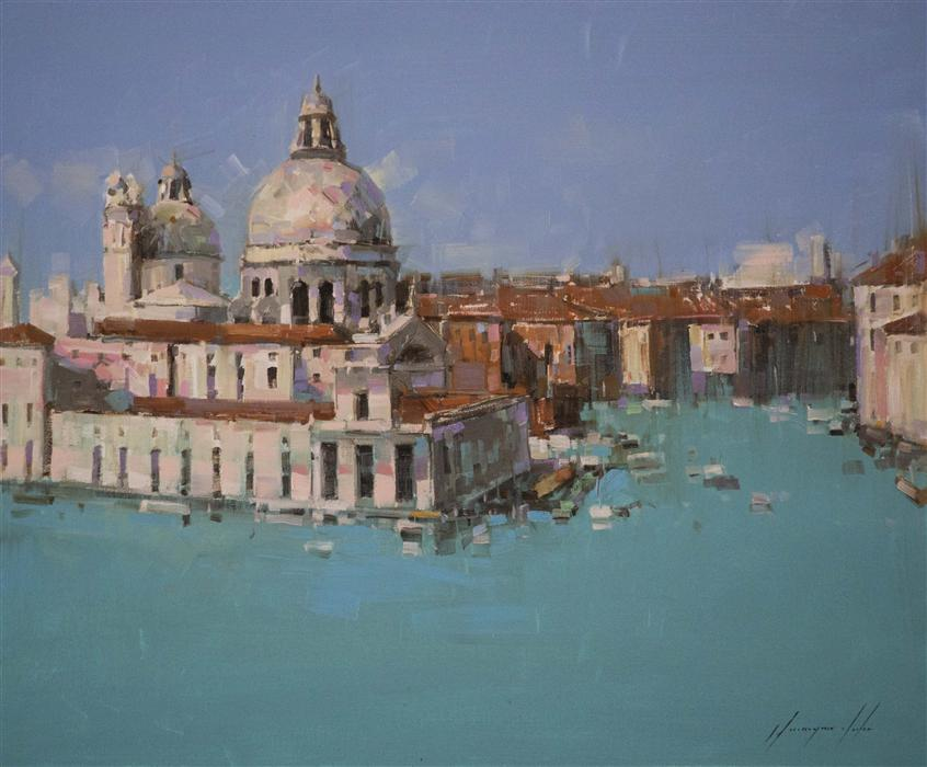 Original art for sale at UGallery.com | Canal Grande by VAHE YEREMYAN | $800 |  | 20' h x 24' w | ..\art\oil-painting-Canal-Grande