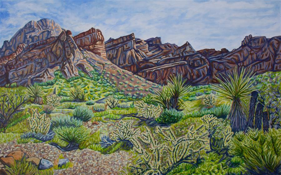 Original art for sale at UGallery.com | Highland Range by CRYSTAL DIPIETRO | $3,675 |  | 30' h x 48' w | ..\art\oil-painting-Highland-Range