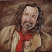 People art,Western art,Representational art,oil painting,Mountain Man Necktie