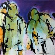 Expressionism art,People art,Representational art,acrylic painting,Lean on Me