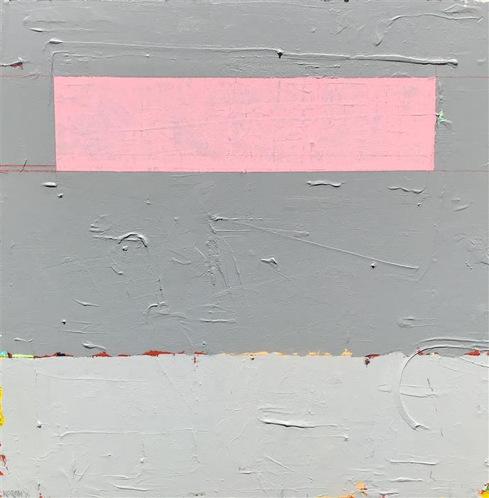 Original art for sale at UGallery.com | Pink Cloud by Joey Korom | $1,300 | acrylic painting | 30' h x 30' w | ..\art\acrylic-painting-Pink-Cloud