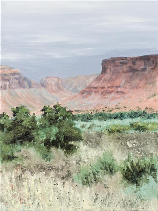 Original art for sale at UGallery.com | Canyon Approach by JILL POYERD | $625 | Oil painting | 16' h x 12' w | ..\art\oil-painting-Canyon-Approach