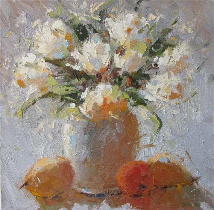 Largewhiteflowersg original art for sale at ugallery white flowers by tricia may 550 mightylinksfo Gallery